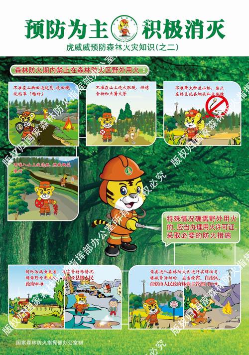 虎威威预防森林火灾宣传画(2)